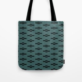Southwestern Coyote Track Symbols in Evergreen + Black Tote Bag