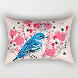 Bird on a Teacup by Andrea Lauren  Rectangular Pillow
