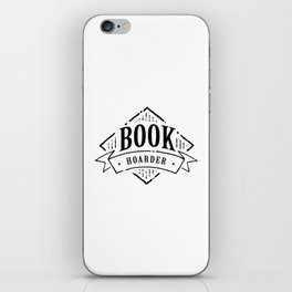 Book Hoarder Black iPhone Skin