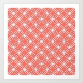 Abstract Circle Dots Peach II Art Print