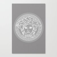 versace Canvas Prints featuring Versace Grey by  Can Encin