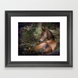 Be Still Framed Art Print