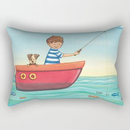 Happy Fishing Day Rectangular Pillow
