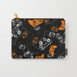 Video Game Orange on Black Carry-All Pouch