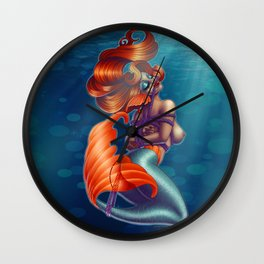 Redhead Shibari Mermaid Wall Clock