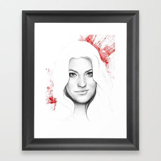 Debra and Blood Splatters Framed Art Print