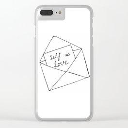 Self Love Clear iPhone Case