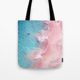 Pink and blue sea Tote Bag