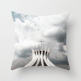 Cathedral | Brasília | Brazil Throw Pillow
