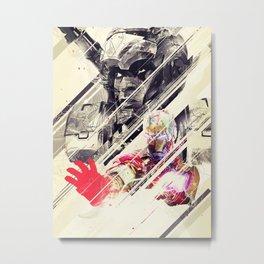 Iron Man & Warhammer // Part II Metal Print