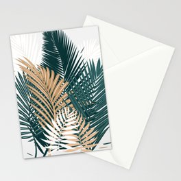 Gold and Green Palm Leaves Stationery Cards