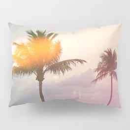 Palm Trees on the Beach Pillow Sham