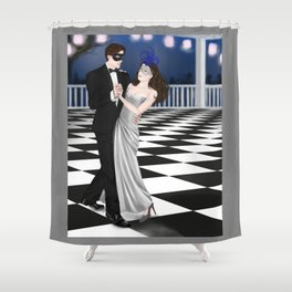 a very expensive dance Shower Curtain