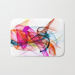 Summer Color Pattern by Nico Bielow Bath Mat