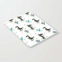 Cute Desert Dinosaurs (white) Notebook