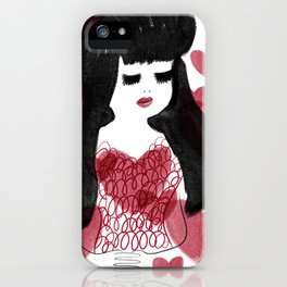 Hearts and hair iPhone Case