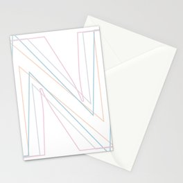 Intertwined Strength and Elegance of the Letter N Stationery Cards