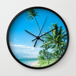 Waipuilani Beach Kīhei Maui Hawaii Wall Clock