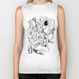 Collage of Thoughts Biker Tank