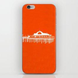 Seaside Pier in Orange iPhone Skin