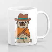 gemma correll Mugs featuring The Good, The Bad and the Pugly by gemma correll