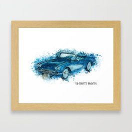 58 Roadster Framed Art Print