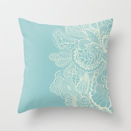 Abstract Nature In Aqua Throw Pillow