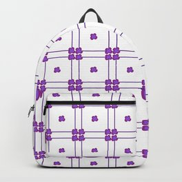Purple Daisies Gingham Style Backpack