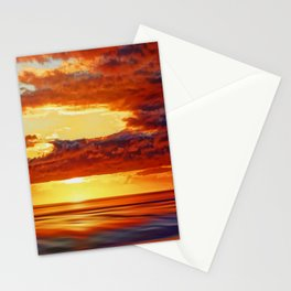 Irish Sea Sunset Stationery Cards