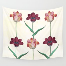 Trio of tulips Wall Tapestry