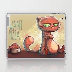 I want pizza. Laptop & iPad Skin