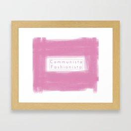 Communist Socialist Girl Framed Art Print