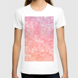 Rose & Gold Mother of Pearl Texture T-shirt