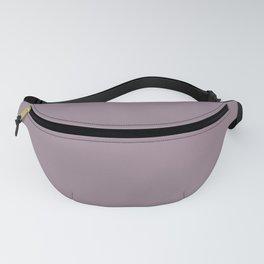 Mauve Plumb Grayed Solid Fanny Pack