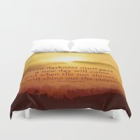 lotr Duvet Covers featuring LORD OF THE RINGS  by Brittney Weidemann