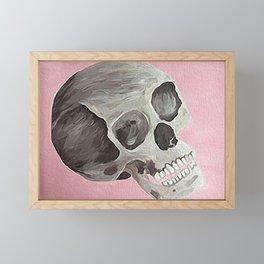 happy skull Framed Mini Art Print