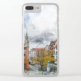 Torun city art 2 #torun #city Clear iPhone Case