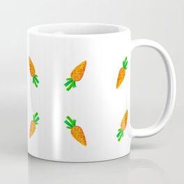 Hand painted green orange watercolor carrots pattern Coffee Mug
