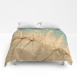 dandelion gold and mint Comforters