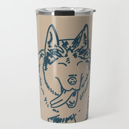 Happy Husky Travel Mug