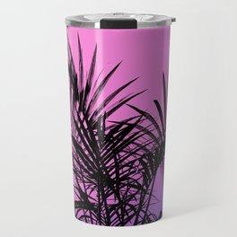 Palm tree in black with purplish gradient Travel Mug