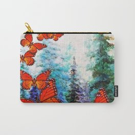ORANGE MONARCH BUTTERFLIES FOREST MIGRATION Carry-All Pouch