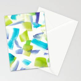 180719 Koh-I-Noor Watercolour Abstract 20 | Watercolor Brush Strokes Stationery Cards