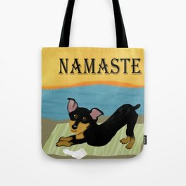 Namaste Yoga Min Pin Tote Bag