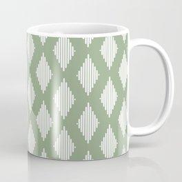 Diamond Lines <Sage Green> Coffee Mug