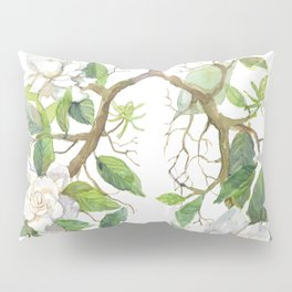 Floral Lungs Anatomy with Flowers, Breathing Gardenia Pillow Sham