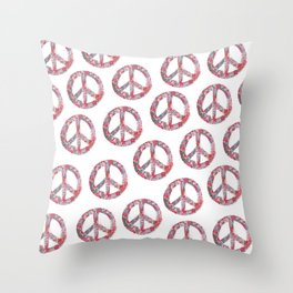 Far Too Pretty Peace Symbols Throw Pillow