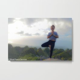 Mountain Top Yoga Metal Print