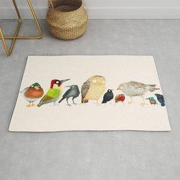 Woodland Bird Collection Rug