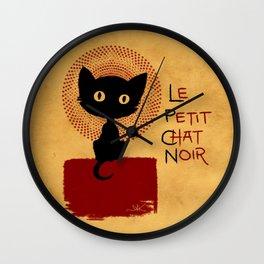 Le Petit Chat Noir Wall Clock